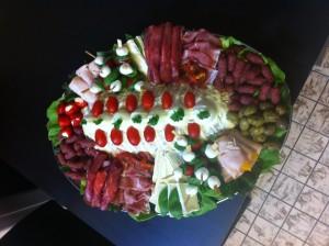 Opgemaakte vleessalade - klik voor groter formaat
